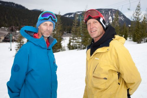 Captains of industry; Johan Malkoski of Capita and Union and John Logic of Snowboard Connection. Just to prove that the owners of snowboard companies can snowboard, Johan went ahead and won the Cruiser Class