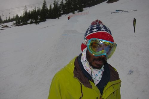 Russell Winfield's contributions to snowboarding are too numerous to mention. He contributed today by judging